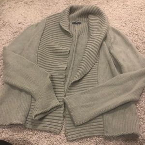 Thick gray sweater